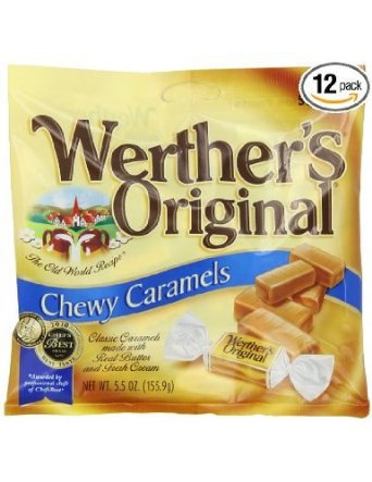 Werther's, Original Chewy Caramels, 5.5oz Bag (Pack of 4)