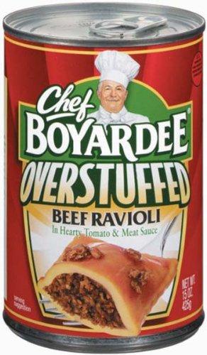 Chef Boyardee, Big Beef Ravioli, Overstuffed, 15oz Can (Pack of 6)