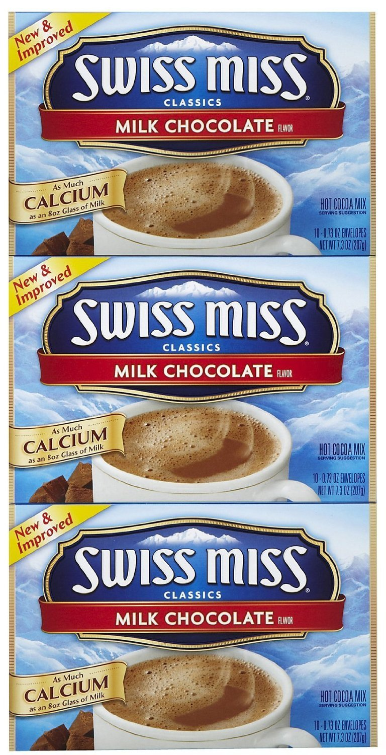 Swiss Miss Milk Chocolate Hot Cocoa Mix, 10 oz, 3 pk
