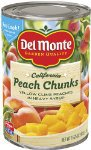 Del Monte Peach Chunks Yellow Peaches in Heavy Syrup, 15.25-Ounce (Pack of 6)