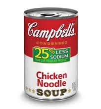 Campbell's Low Sodium Chicken Noodle Soup, 10.75oz Cans