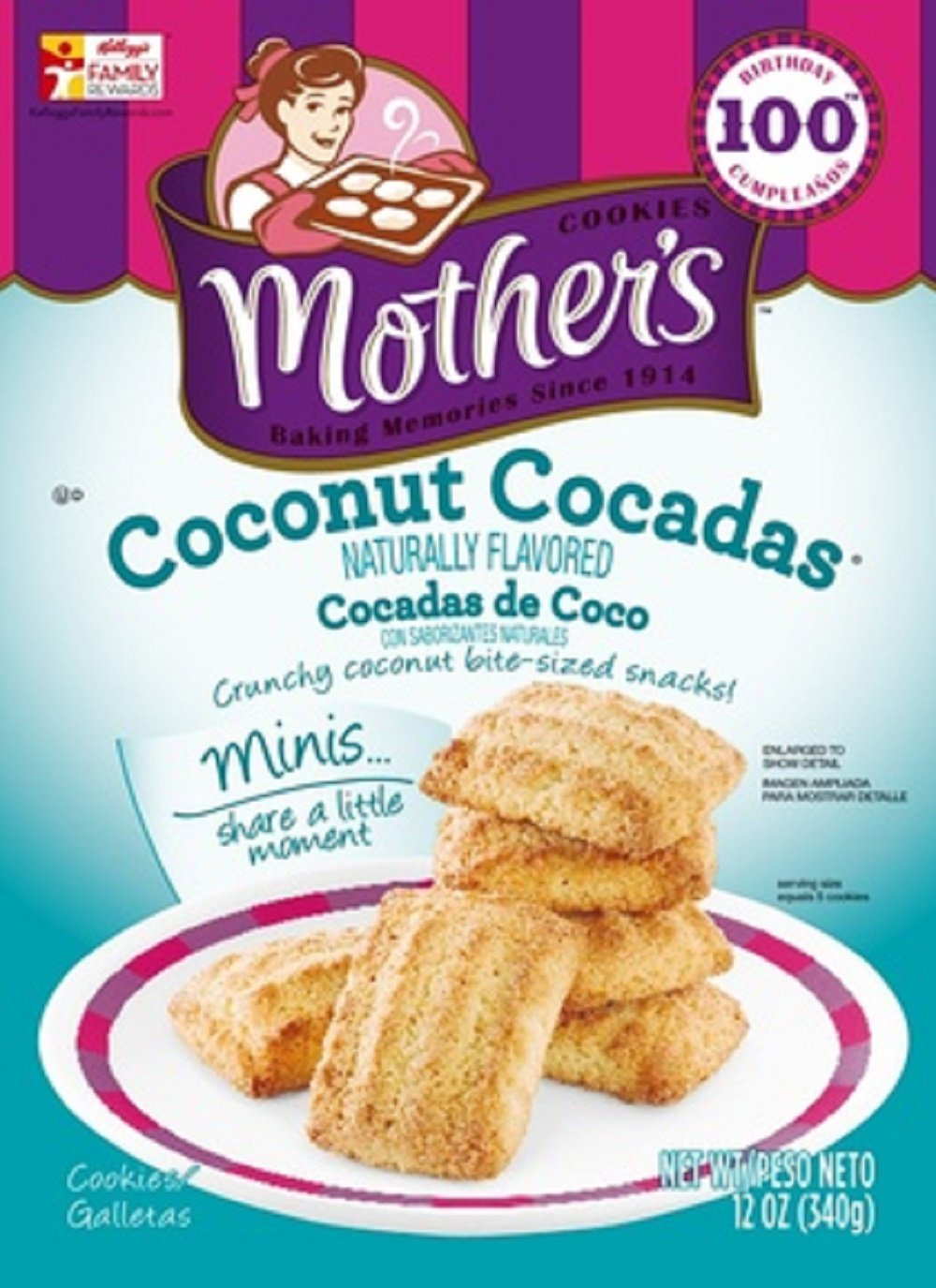 Mother's, Coconut Cocadas Cookies, 12oz Bag (Pack of 4)
