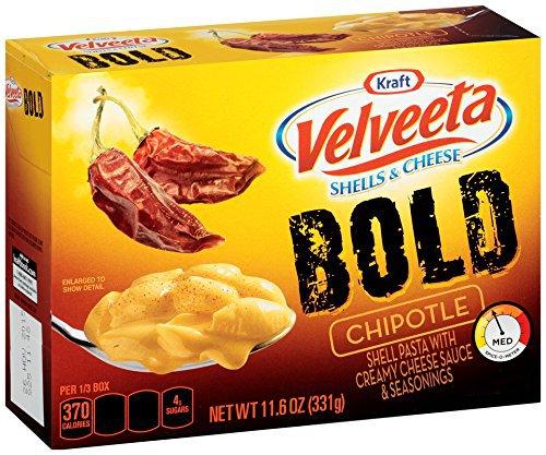 Kraft, Velveeta, BOLD, Shells & Cheese, 11.6oz Box (Chipotle)