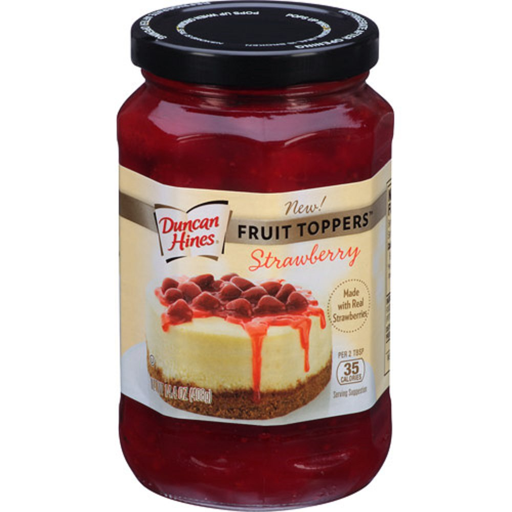 Duncan Hines, Fruit Toppers, 14.4oz Glass Jar (Strawberry)