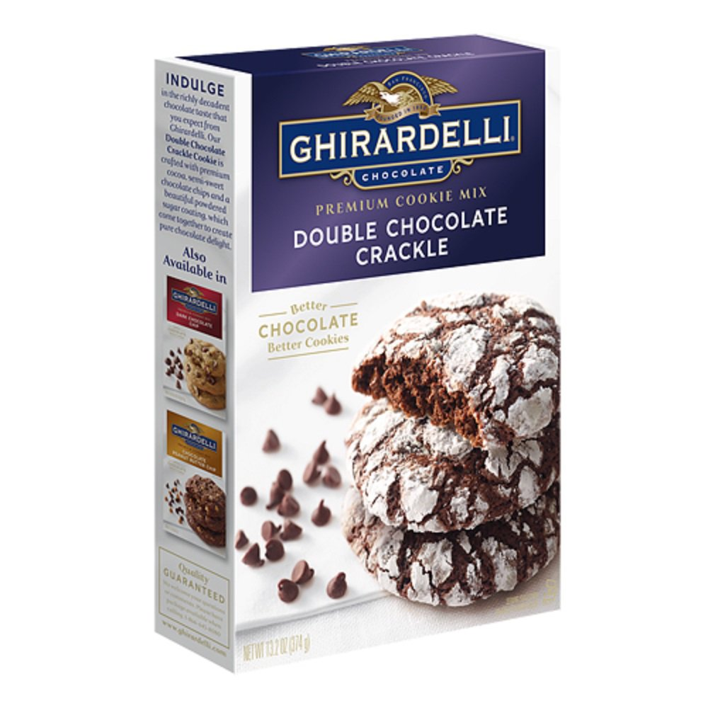 Ghirardelli, Premium Cookie Mixes, 13.25oz Box (Doube Chocolate...