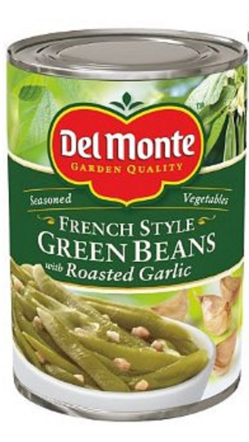 Del Monte, Seasoned French Style Green Beans with Garlic, 14.5oz Can