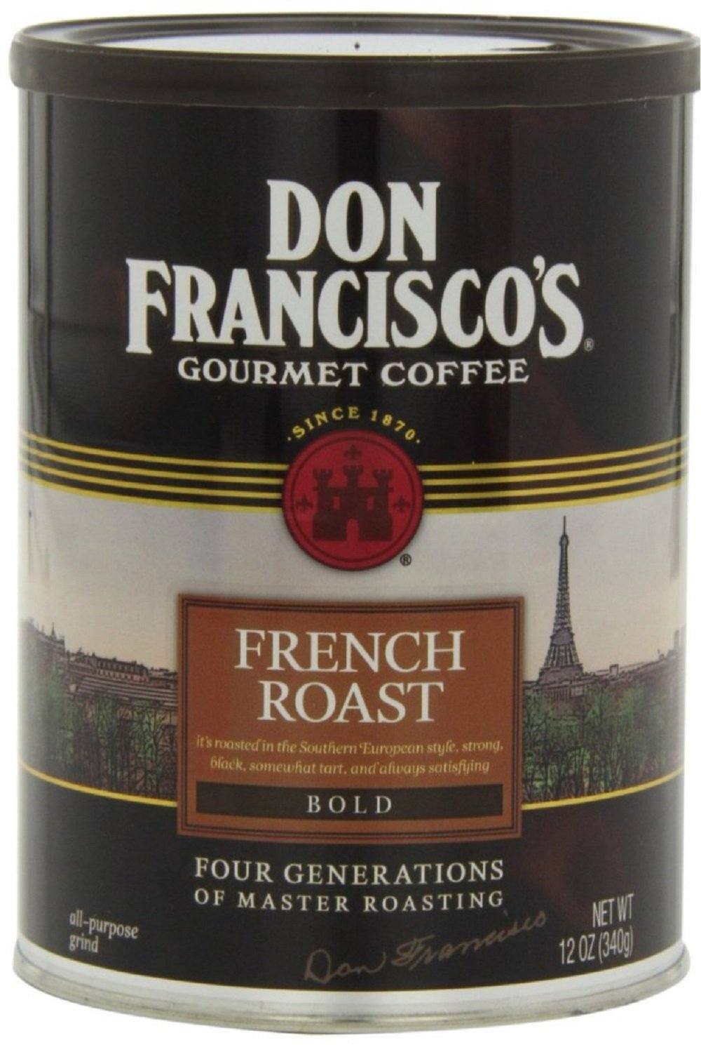 Don Francisco, Gourmet Ground Coffee, French Roast, 12 Ounce Can