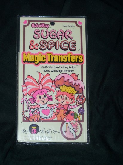 1981 SUGAR & SPICE Colorforms Magic Transfers MINT Pack