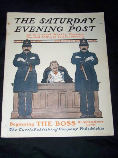 Antique SATURDAY EVENING POST Magazine Aug 15 1903 BOSS