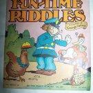 1930s FUN-TIME RIDDLES Children's Book George Carlson