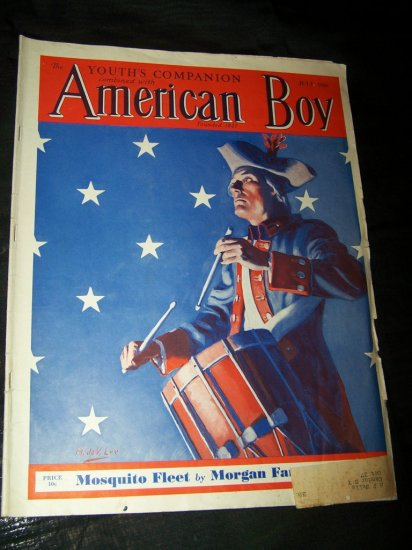 Vintage AMERICAN BOY July 1936 Magazine USA Drummer Boy