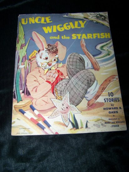 Vintage 1943 UNCLE WIGGILY & STARFISH Children's Book