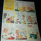 Vintage 1945 SWAN soap CURIOUS BABY Comic Print Ad