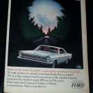 Vintage 1960s FORD GALAXIE 500/XL Night Drive Print Ad
