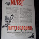 Vintage 1949 BATTLEGROUND WWII Movie Print Ad