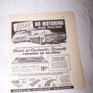Vintage 1962 ATLAS HO Motoring Racing Car Toy Print Ad