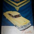 Vintage 1949 Yellow CADILLAC Sedan Car Jewels Print Ad