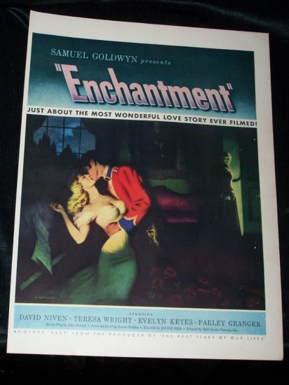 Vintage 1948 ENCHANTMENT Teresa Wright Movie Print Ad
