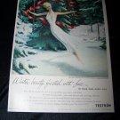 Vintage 1948 TEXTRON Christmas Lace LINGERE Print Ad