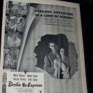 Vintage 1948 BERLIN EXPRESS Merle Oberon Movie Print Ad