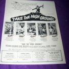 Vintage TAKE HIGH GROUND Richard Widmark Movie Print Ad