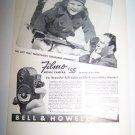 Vintage 1937 BELL & HOWELL FILMO Movie Camera Print Ad