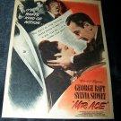Vintage 1946 MR ACE George Raft Color Movie Print Ad