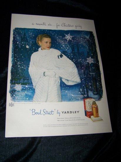 Vintage 1948 BOND STREET Yardley Perfume Print Ad
