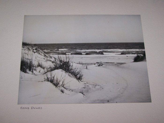 Vintage 1940 Seashore Sand Dunes Ocean Photograph Photo