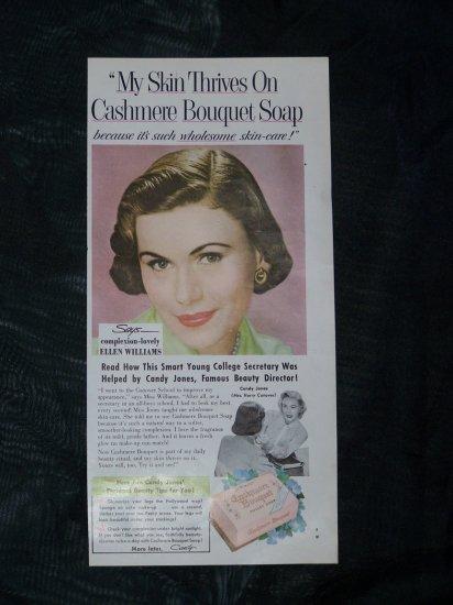 Vintage 1950s CASHMERE SOAP ELLEN WILLIAMS AD