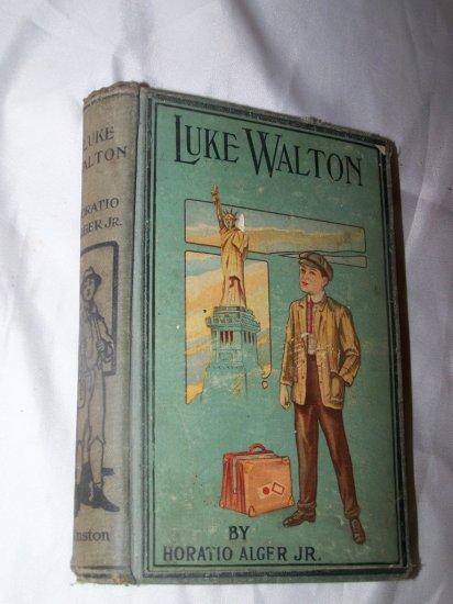 Antique 1889 LUKE WALTON Horatio Alger Jr Book HC