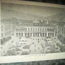 Antique 1882 GRAPHIC CASINO LA VILLE DE NICE Art Print