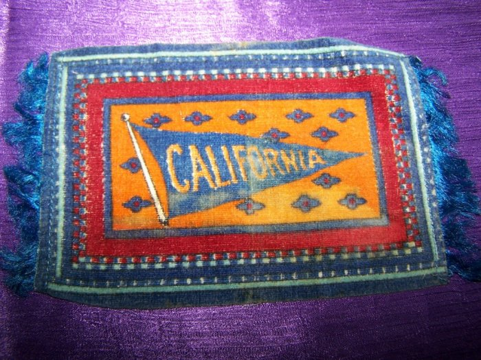 Antique TOBACCO Felt Rug/Carpet CALIFORNIA Premium