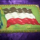 "Antique TOBACCO Flannel Felt 11"" GERMANY FLAG Premium"