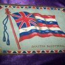 """Antique TOBACCO Felt 11"""" SOUTH AUSTRALIA FLAG Premium"""