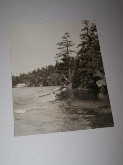 Vintage 1940s St. Lawrence River Shore Photograph Photo
