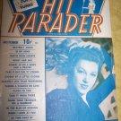 Vintage HIT PARADER Magazine Oct 1943 Abbott & Costello~Fay McKenzie
