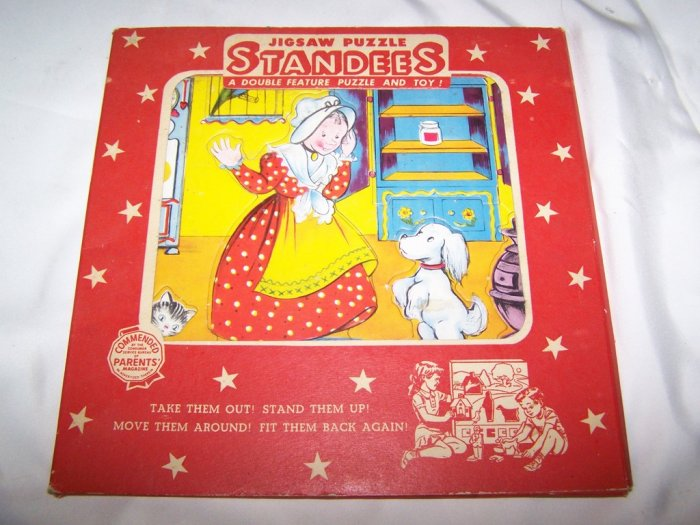Vintage 1950s MOTHER HUBBARD Standee Frame-Tray Puzzle