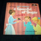 Vintage Disney MARY POPPINS Spoonful of Sugar Record 45