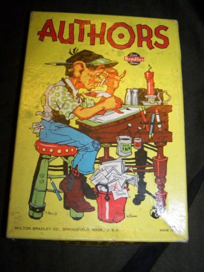 Vintage 1930s Card GAME OF AUTHORS 4008 Milton Bradley