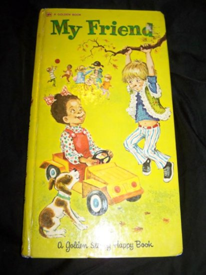 Vintage 70s MY FRIEND Mary Fulton Childrens Golden Book