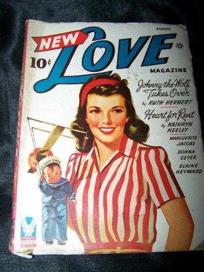 Vintage NEW LOVE Aug 1944 Pulp Magazine Puppeteer