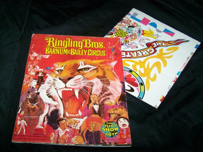 1975 Ringling Bros Barnum Bailey Circus Program Catalog