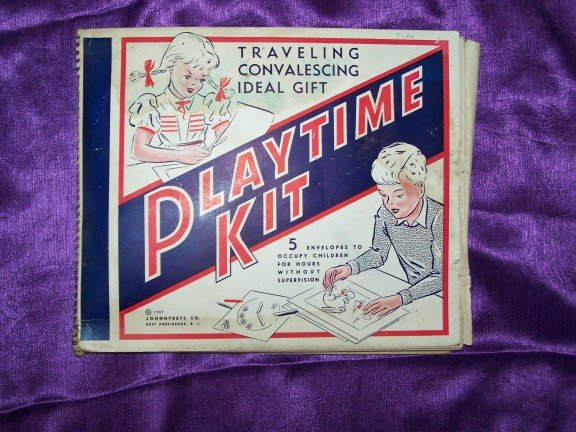 Vintage 1940s PLAYTIME KIT Child's Paper Coloring Book