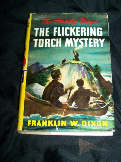 Vintage HARDY BOYS Flickering Torch Mystery Franklin Dixon HC-DJ