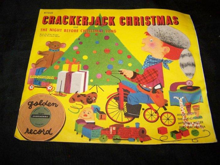 Vintage CRACKERJACK CHRISTMAS Golden Record 78 R112:25