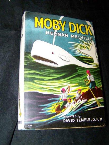 Vintage MOBY DICK Herman Melville Childrens Book HC/DJ