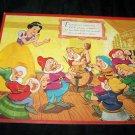 Vintage 1950 Walt Disney SNOW WHITE Frame-Tray Puzzle