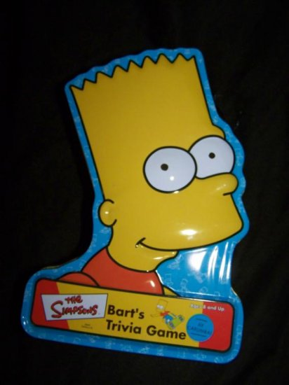 2001 SIMPSONS Bart's Trivia Card Game Tin Metal Box