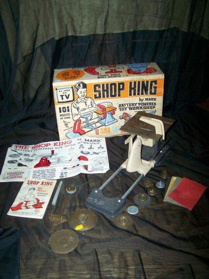 Vintage 1960s SHOP KING Marx Battery Powered Toy Workshop
